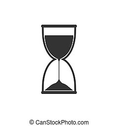Hourglass, sand, time icon. Vector illustration, flat design.