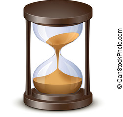 Hourglass. Sand watch. Highly detailed vector illustration