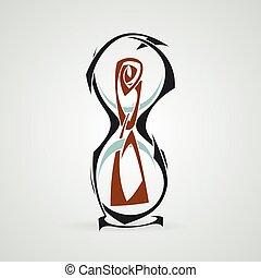 Hourglass. Tattoo. Vector. Tribal.