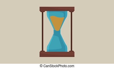 hourglass through time scenes HD animation