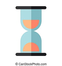 hourglass time counter isolated icon vector illustration design