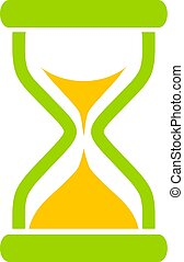 Hourglass time vector icon