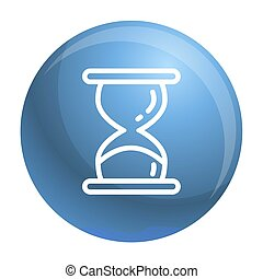 Hourglass timer icon, outline style