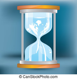 hourglass vector. flow map of the world. vector design.