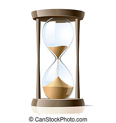 Hourglass - Vector illustration of a hour-glass