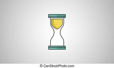 Hourglass vintage clock HD definition - Hourglass running...