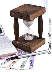 Hourglass with Euros