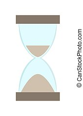 Hourglass With Flowing Sand Vector Illustration