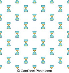 Hourglass with gold dust and coins pattern