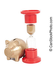 Hourglass With Piggy Bank