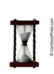 Hourglass with sand on white background