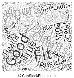hours fitness center Word Cloud Concept