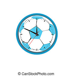 hours in the form of a football. Vector illustration