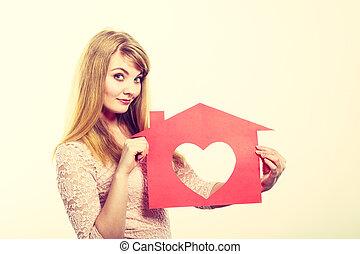 house., χαρτί , αγάπη , νέοs άντραs