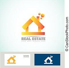 House 3d real estate logo icon