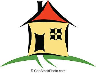 House - A vector house cartoon illustration
