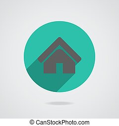 House abstract real estate countryside logo design template. Realty theme icon.