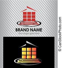House abstract real estate logo