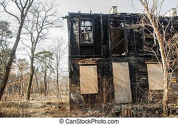 House after a fire