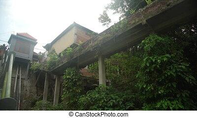 House and bridge in the Jungle Ubud Bali Indonesia - House...
