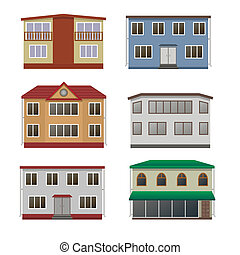 House and building set.