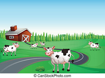 Cow House Vector Clip Art Royalty Free 2306 Clipart