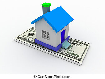 house and dollar concept