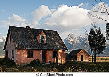 House and Grand Teton Mountain