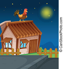 house and hen