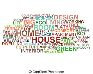 House and home word cloud