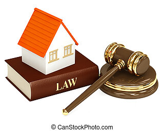 House and law. Object isolated over white