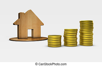 House And Money Icon Property Investment Concept