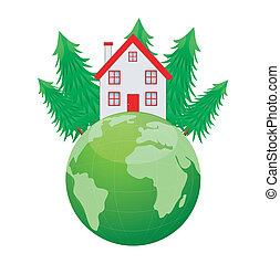 house and planet earth