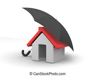 House and Umbrella