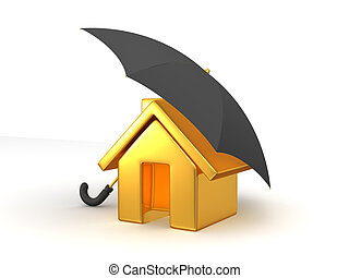 House and Umbrella