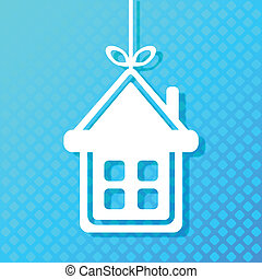 House applique background. For your design