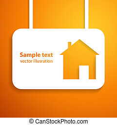 House applique background. Vector illustration for your business presentation.