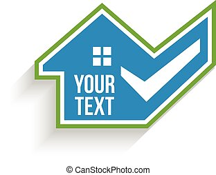 House Approval Check. Vector design
