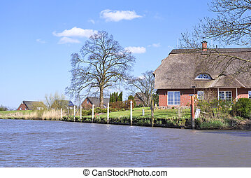 House at a river