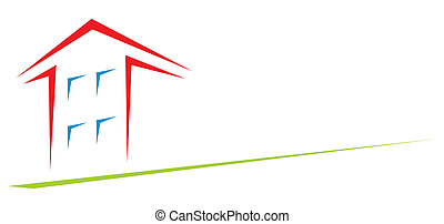 House at arrow - Clipart of house created in arrow shape