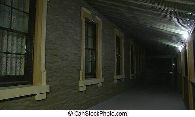 House at night shot