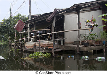house at the Klongs in old Bangkok