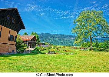 House at Yverdon in Jura Nord Vaudois Vaud Switzerland -...