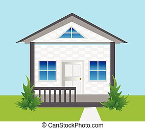 House Background vector illustration.