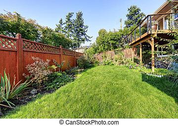 House backyard view
