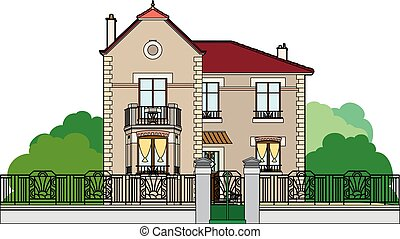 House behind the fence