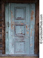 house., belépés, öreg, elhagyatott