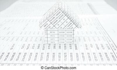 House between stack paperwork repor
