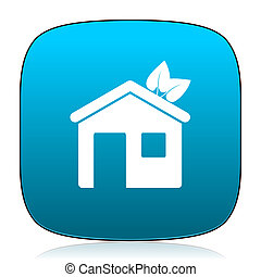 house blue icon