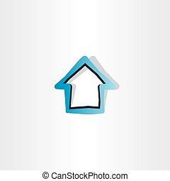 house blue logo symbol element design